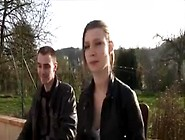 Cute French Teen Gangbanged