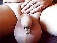 Big Inflated Saline Balls Penis Plug