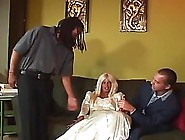 Blonde Bride Cuckolded Her Husband On A Wedding Day,  Because She