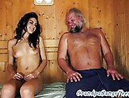 Gorgeous Teen Fucked By Grandpa In The Spa