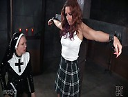 Nun Wearing Strapon Fucks Sinful Red Haired Chick Savannah Fox