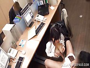 Slutty Asian Whore Gives A Blowjob In The Office