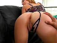 Blonde Milf Amber Has Slender Body.  She Wear Tight And Sexy Legg