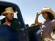 Busty Cowgirl Hitched And Fucked Hard Out Of Nowhere