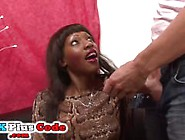 Young Ebony French Slut Former Model Love White Cocksucking And