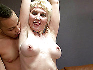 White Granny Lets A Black Guy Fuck Her Mature Pussy