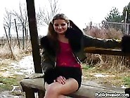 Sexy Teen Slut Getting Dirty At The Bus Stop