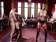 Busty Milf And Young Maid Bdsm Fucked