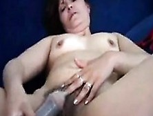 Mature And Hairy Woman Masturbating