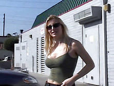Hot Blonde Slut Picked From The Streets For A Facial