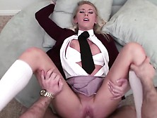 Marvelous Blonde Teen With A Spicy Ass Brynn Tyler Gets Nailed I