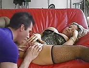 Kim Chambers Gets It On Sofa.