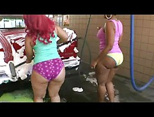 Two Big Booty Redbone Freaks Get Fucked