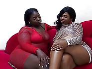 Two Bbw Blacks Lesbians On Sofa