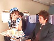 Very Nice Asian Flight Attendant Sucks A Passenger's Cock