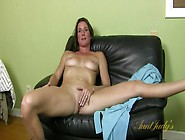 Naked Mom Chats With Him While She Rubs Her Clit