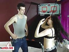 Strip Basketball Ends With Blowjob