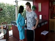 Petite Milf Step Mom And Son Get It On