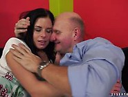 Daniella Rose Getting Her Pink Pussy Smashed By An Older Cock
