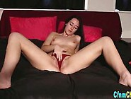 Nude Brunette Babe Playing With Her Beautiful Pussy Solo In Bed