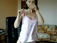 Shy Teen Daughter Misbehaving While Dad Is Out