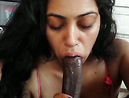 I Love Watching My Indian Girlfriend Suck My Black Cock