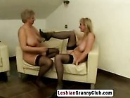Granny And Milf Caught In A Hot Lesbian Action