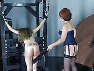 Young Cheerleader Brunette Gets Spanked And Pussy Licked By Olde
