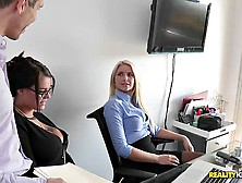 Office Threesome Porn.  My Lovely Assistants Annika Albrite And P