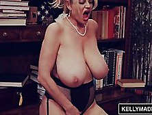 Big Titted Blonde In Red Shoes With High Heels,  Kelly Madison Is