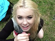 Amateur Blonde Gives A Bj Outdoor