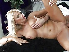 Alluring Winnie spreads her slits wide feeling the thick cock sliding in he
