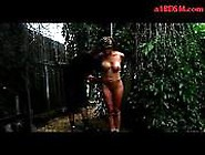 Busty Girl Getting Tied To Pole In The Garden Spanked With S...