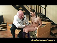 Young Teen Gets Fucked By A Grandpa