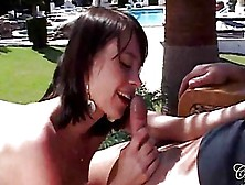 Sexy Sluts Suck And Ride Dicks By The Pool