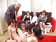 Grannies,  Teens,  And Wild Sex Orgy At Home