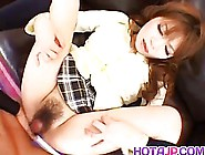 Asian Girl Is Wearing School Uniform While Making A Porn Video,