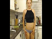 Blondie On Cam In Kitchen