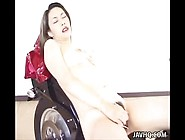 Busty Japanese Slut Erena Teasing Her Sticky Hairy Pussy On The