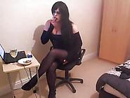 Beautiful Goth Kirsty Smoking Hot
