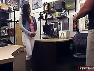 Ebony Babe With Small Tits Got Fucked In A Local Shop,  For A Sma