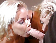 Two Salacious Blondes Seduce A Man And Fuck Him In Ffm Threesome