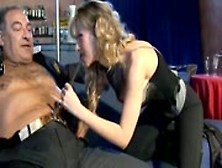 Luckuy Old Guy Fucking Hot Blonde