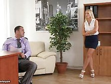 Sexy Blonde Kiara Lord Rides Hiss Tiff Cock In The Office