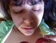 Young Girl Plays W/ Ben Wa Balls & Teases Ass Close Up/ Licks He