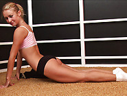 Workout Makes Blonde Teen Pink Pussy Wet