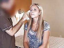 Tall Blonde Teen Interview Fuck Scene #1