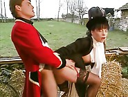 A Brunette Seduces A Groom In The Stables