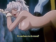 Blue Creature Fucks A Sexy Hentai Girl In Her Cunt