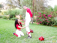 Big Tits In Sports: Audrey Gets The Batter Up.  Audrey Bitoni,  Ke